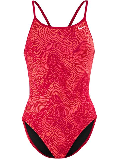 Nike Swim Geo Alloy - Maillot de bain Femme - rouge
